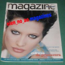Coleccionismo Periódico La Vanguardia: MAGAZINE LA VANGUARDIA 1997 ~ NIEVES ALVAREZ TOP MODEL MODA~CRISTINA HOYOS BAILAORA FLAMENCO. Lote 27773306