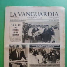 Coleccionismo Periódico La Vanguardia: LA VANGUARDIA ESPAÑOLA 28 AGOSTO 1963 Nº 30.241 - DI STEFANO DEVUELTO POR SUS CAPTORES. Lote 30565708