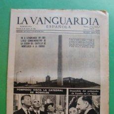 Coleccionismo Periódico La Vanguardia: LA VANGUARDIA ESPAÑOLA 230 AGOSTO 1963 Nº 30.243-CESION DEL CASTILLO DE MONTJUICH A LA CIUDAD. Lote 30566131