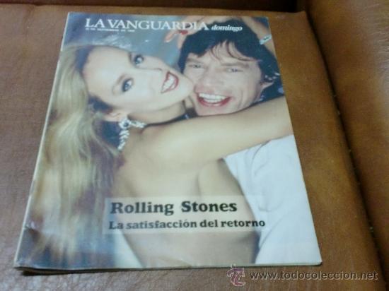 REV: VANGUARDIA 9/1989.-ROLLING STONES AMPL. RPTJE.EDIFICIO COLON,VISCONTI Y EL LIDO,LA FLOR HOLAND (Coleccionismo - Revistas y Periódicos Modernos (a partir de 1.940) - Periódico La Vanguardia)