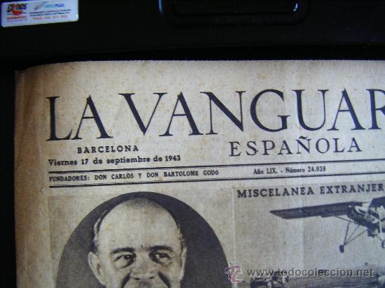 Coleccionismo Periódico La Vanguardia: LA VANGUARDIA. V17 SEPT. 1943 LVX, Nº 24038. MISCELANEA EXTRANJERA II GUERRA MUNDIAL. - Foto 3 - 32296975