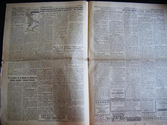 Coleccionismo Periódico La Vanguardia: LA VANGUARDIA. V17 SEPT. 1943 LVX, Nº 24038. MISCELANEA EXTRANJERA II GUERRA MUNDIAL. - Foto 4 - 32296975
