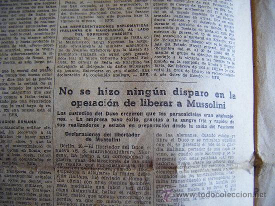 Coleccionismo Periódico La Vanguardia: LA VANGUARDIA. V17 SEPT. 1943 LVX, Nº 24038. MISCELANEA EXTRANJERA II GUERRA MUNDIAL. - Foto 5 - 32296975