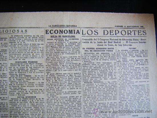 Coleccionismo Periódico La Vanguardia: LA VANGUARDIA. V17 SEPT. 1943 LVX, Nº 24038. MISCELANEA EXTRANJERA II GUERRA MUNDIAL. - Foto 6 - 32296975
