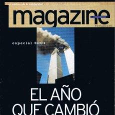 Coleccionismo Periódico La Vanguardia: MAGAZINE LA VANGUARDIA - ESPECIAL DICIEMBRE 2001 - EL AÑO QUE CAMBIÓ EL MUNDO. Lote 32593942