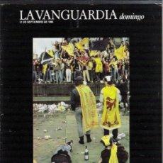 Coleccionismo Periódico La Vanguardia: LA VANGUARDIA DOMINGO 21-9-1986. Lote 35195497
