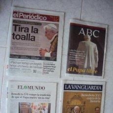 Coleccionismo Periódico La Vanguardia: BENEDICTO XVI .11 - 2 - 2013. Lote 35912141