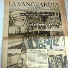 Colecionismo Jornal La Vanguardia: ACORDAOS ESPAÑOLES. LA VANGUARDIA 3 JULIO 1947. 12 P.. Lote 36447504