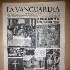 Colecionismo Jornal La Vanguardia: LA VANGUARDIA DEL 3 DE ABRIL DE 1958 - SEMANA SANTA -. Lote 36957392