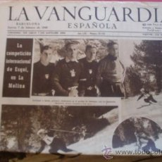 Coleccionismo Periódico La Vanguardia: LA VANGUARDIA 07/02/1946 COMPETICION INT. DE ESQUI EN LA MOLINA - RHUM NEGRITA BARDINET. Lote 37226276