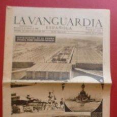 Coleccionismo Periódico La Vanguardia: LA VANGUARDIA 13/02/1946 EXPERIMENTOS DE LA BOMBA ATOMICA SOBRE UNIDADES NAVALES. Lote 37226852