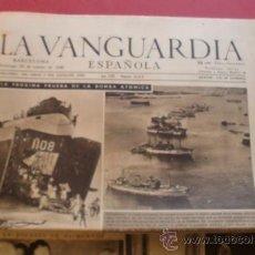 Coleccionismo Periódico La Vanguardia: LA VANGUARDIA 24/03/1946 LA PROXIMA PRUEBA DE LA BOMBA ATOMICA. Lote 37226883