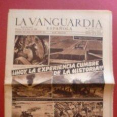 Coleccionismo Periódico La Vanguardia: LA VANGUARDIA 30/06/1946 HOY LA EXPERIENCIA CUMBRE DE LA HISTORIA - BIKINI INFIERNO NUCLEAR - ORION. Lote 37227004