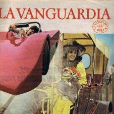 Colecionismo Jornal La Vanguardia: LA VANGUARDIA - CIEN AÑOS DE LA VIDA DEL MUNDO - EL AUTOMÒVIL - FASCÍCULO 40. Lote 37315960