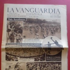 Coleccionismo Periódico La Vanguardia: LA VANGUARDIA 30/04/1946 BARÇA 1 - SEVILLA 0 - II CARRERA CICLISTA DEL DESMONTABLE - DDT INU. Lote 37335811