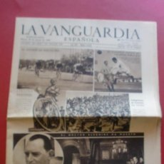 Coleccionismo Periódico La Vanguardia: LA VANGUARDIA 26/03/1946 CICLISMO II TROFEO MASFERRER PIRELLI - ESPAÑOL 4 - VALENCIA 0 - MYRURGIA. Lote 37335995