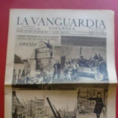 Coleccionismo Periódico La Vanguardia: LA VANGUARDIA 17/03/1946 DRESDE ZONA OCUPADA POR LOS RUSOS EN ALEMANIA - FALLAS - LONGINES. Lote 37336527