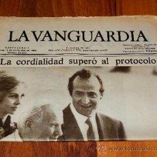 Coleccionismo Periódico La Vanguardia: LA VANGUARDIA BARCELONA 1 DE NOVIEMBRE 1982 PAPA JUAN PABLO 2ª EN ESPAÑA NUMERO 36223 . Lote 37837046