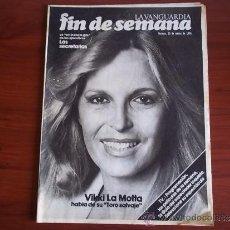 Coleccionismo Periódico La Vanguardia: REV. - LA VANGUARDIA - FIN DE SEMANA - 20 DE MARZO DE 1981 / VIKKI LA MOTTA. Lote 38471818