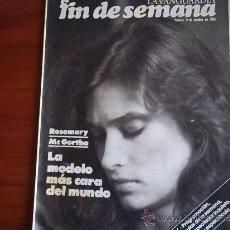 Coleccionismo Periódico La Vanguardia: REV. - LA VANGUARDIA - FIN DE SEMANA - 9 DE OCTUBRE DE 1981 / ROSEMARY MC GORTHA. Lote 38471912