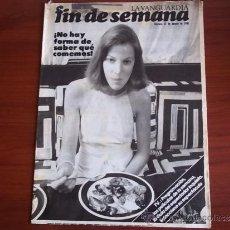 Coleccionismo Periódico La Vanguardia: REV. - LA VANGUARDIA - FIN DE SEMANA - 21 DE AGOSTO DE 1981 / NO HAY FORMA DE SABER LO QUE COMEMOS. Lote 38472704