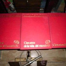 Coleccionismo Periódico La Vanguardia: COLECCION LA VANGUARDIA 3 TOMOS CIEN AÑOS DE LA VIDA DEL MUNDO Y DE LA VIDA CATALANA. Lote 38491793