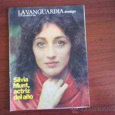 Coleccionismo Periódico La Vanguardia: LA VANGUARDIA - REV DOMINGO - 26 DE DICIEMBRE DE 1982 / SILVIA MUNT , ACTRIZ DEL AÑO. Lote 38548419