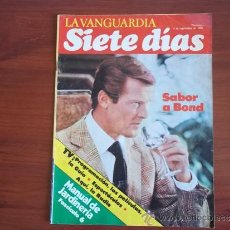 Coleccionismo Periódico La Vanguardia: LA VANGUARDIA - SIETA DIAS - 5 DE SEPTIEMBRE DE 1982 - SABOR A BOND. Lote 38549419