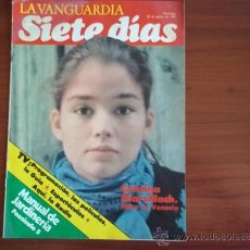 Coleccionismo Periódico La Vanguardia: LA VANGUARDIA - REV. SIETE DIAS - 29 DE AGOSTO DE 1982 - CRISTINA MARSILLACH. Lote 38549713