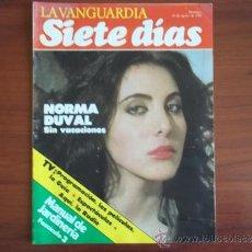Coleccionismo Periódico La Vanguardia: LA VANGUARDIA - SIETE DIAS - 15 DE AGOSTO DE 1982 / NORMA DUVAL / PROGRAMACION TVE. Lote 38559685