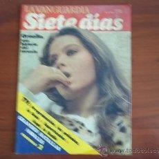 Coleccionismo Periódico La Vanguardia: LA VANGUARDIA - REV.SIETE DIAS - 16 DE MAYO DE 1982 / ORNELLA MUTTI Y ADRIANO CELENTANO. Lote 38561361