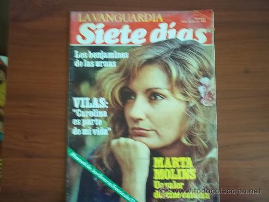 LA VANGUARDIA - SIETE DIAS - 24 DE OCTUBRE DE 1982 / MARTA MOLINS. UN VALOR DEL CINE CATALAN (Coleccionismo - Revistas y Periódicos Modernos (a partir de 1.940) - Periódico La Vanguardia)