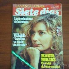 Coleccionismo Periódico La Vanguardia: LA VANGUARDIA - SIETE DIAS - 24 DE OCTUBRE DE 1982 / MARTA MOLINS. UN VALOR DEL CINE CATALAN. Lote 38564799