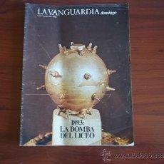 Coleccionismo Periódico La Vanguardia: LA VANGUARDIA - REV DOMINGO - 9 DE ENERO DE 1983 / LA BOMBA DEL LICEO - AÑO 1893. Lote 38575145