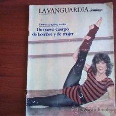 Coleccionismo Periódico La Vanguardia: LA VANGUARDIA - REV DOMINGO - 30 DE OCTUBRE DE 1983 / JANE FONDA, LA AGILIDAD ECHA MUJER. Lote 38575393