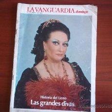 Coleccionismo Periódico La Vanguardia: LA VANGUARDIA - REV DOMINGO - 27 DE MARZO DE 1983 / HISTORIA DEL LICEO DE BARCELONA. Lote 38575482