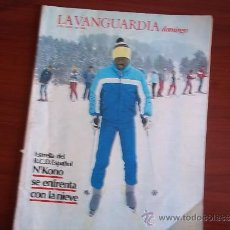 Coleccionismo Periódico La Vanguardia: LA VANGUARDIA - REV DOMINGO - 3 DE ABRIL DE 1983 / N´KONO SE ENFRENTA CON LA NIEVE. Lote 38578481