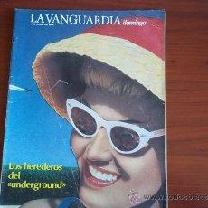 Coleccionismo Periódico La Vanguardia: LA VANGUARDIA - REV DOMINGO - 1 DE ABRIL DE 1984 / LOS HEREDEROS DEL UNDERGROUND. Lote 38599079