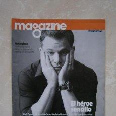 Coleccionismo Periódico La Vanguardia: MAGAZINE / REVISTA LA VANGUARDIA 11 AGOSTO DEL 2013. MATT DAMON EL HÉROE SENCILLO. NATURALEZA . Lote 39256536