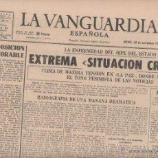 Coleccionismo Periódico La Vanguardia: 12 EJEMPLARES DE 'LA VANGUARDIA ESPAÑOLA' MUERTE DE FRANCO DESDE EL 19/11/1975 AL 30/11/1975. Lote 57068802