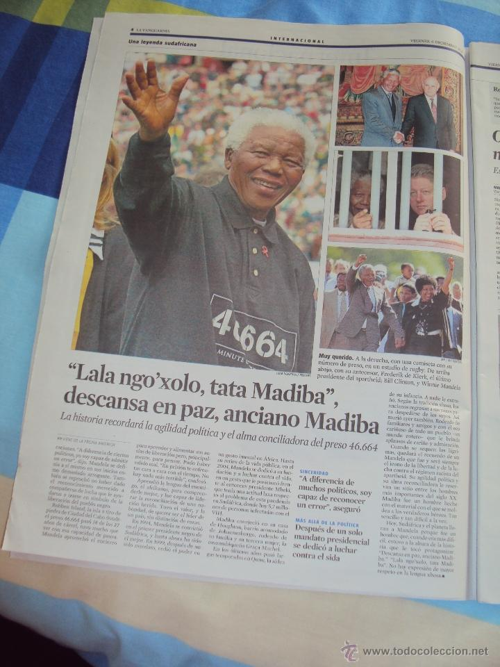 Coleccionismo Periódico La Vanguardia: Adios a Mandela. La Vanguardia. - Foto 3 - 193924376