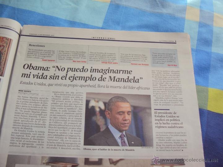 Coleccionismo Periódico La Vanguardia: Adios a Mandela. La Vanguardia. - Foto 4 - 193924376