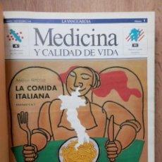 Coleccionismo Periódico La Vanguardia: MEDICINA Y CALIDAD DE VIDA. Nº 1 AL 26. 7 SEP-90 AL 1 MAR-91 - DIVERSOS AUTORES. Lote 36979614