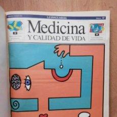 Coleccionismo Periódico La Vanguardia: MEDICINA Y CALIDAD DE VIDA. Nº 27 AL 46. 8 MAR-91 AL 26 JUL-91 - DIVERSOS AUTORES. Lote 36979615