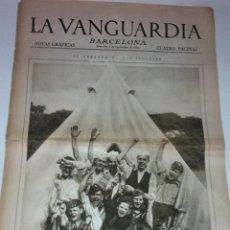 Colecionismo Jornal La Vanguardia: VERANEO DE LOS INGLESES. FESTIVAL EN LA ESCUELA DE MAR DEL AYUNTAMIENTO ( BARCELONA ). LA VANGUARDIA. Lote 40982471