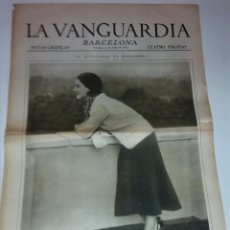 Colecionismo Jornal La Vanguardia: NORMA SHEARER, ARTISTA. BARCELONA FESTIVIDAD SAN CRISTOBAL. LA VANGUARDIA 12 JULIO 1931. 4 P.. Lote 40983383