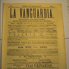 Coleccionismo Periódico La Vanguardia: LA VANGUARDIA. Nº 1. 1 DE FEBRERO DE 1881.EDICIÓN DE 1-2-1981 EN SU CENTENARIO.. Lote 41484944