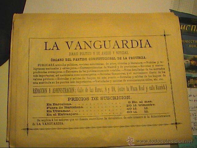 Coleccionismo Periódico La Vanguardia: LA VANGUARDIA. Nº 1. 1 DE FEBRERO DE 1881.EDICIÓN DE 1-2-1981 EN SU CENTENARIO. - Foto 5 - 41484944