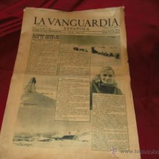 Coleccionismo Periódico La Vanguardia: EL PRIMER ESPAÑOL QUE PISA LA ANTARTIDA- LA VANGUARDIA 1954. Lote 41507869