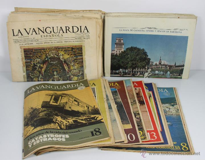 D-400. COLECCION DE PUBLICACIONES DE LA VANGUARDIA ESPAÑOLA. AÑOS 60 Y 80. (Coleccionismo - Revistas y Periódicos Modernos (a partir de 1.940) - Periódico La Vanguardia)